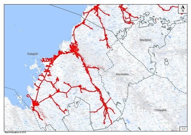 Valokuituverkon kattavuus kartalla
